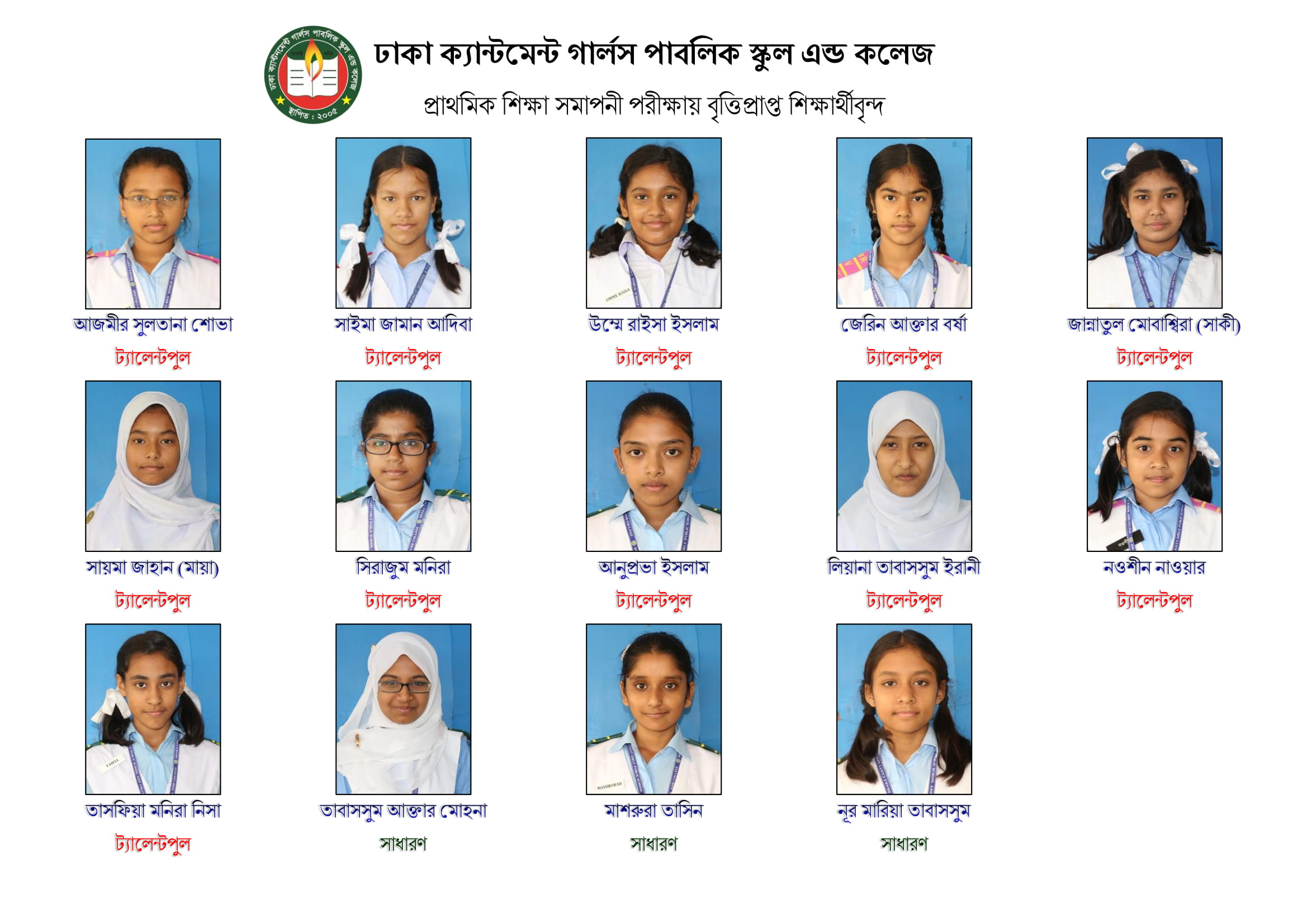 14 students awarded Scholarship in PEC Exam - 2018!